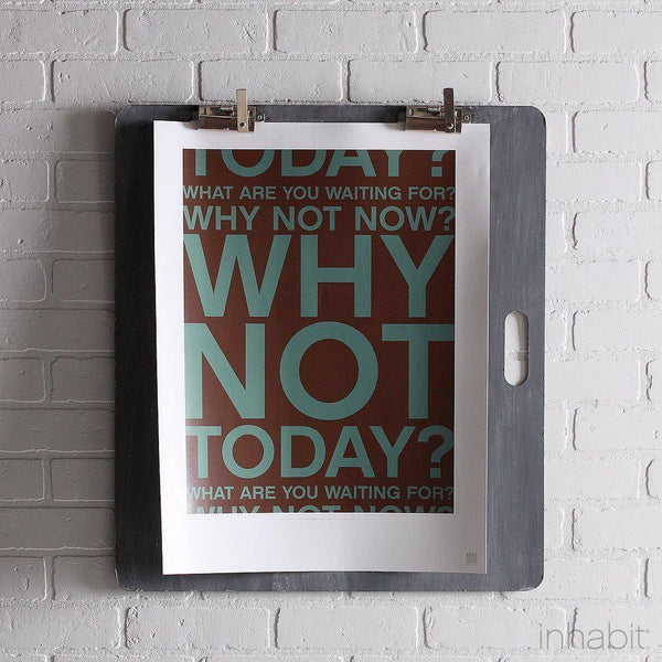 "Why Not in Cornflower Print - 18"" x24""- Art Prints - Inhabitliving.com - Inhabit - 1"