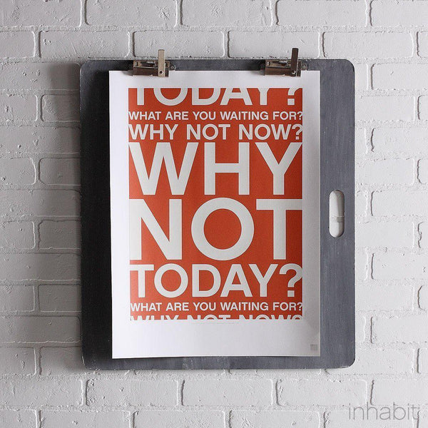 "Why Not in Rust Print - 18"" x24""- Art Prints - Inhabitliving.com - Inhabit - 1"