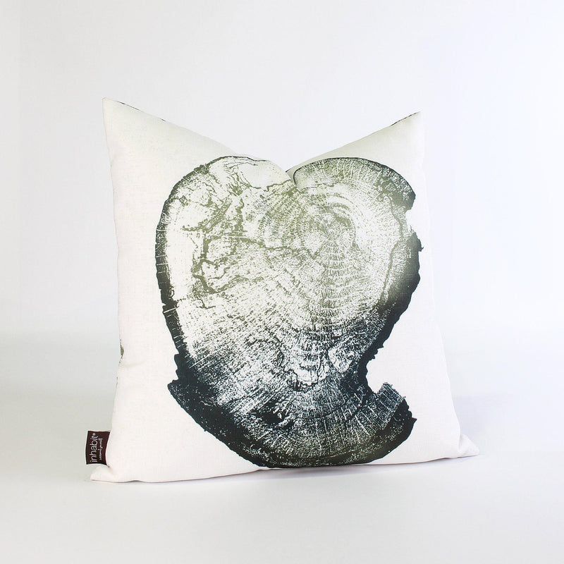 Handmade Pillows - Wood Cut 1 Throw Pillow - 1 - Inhabit