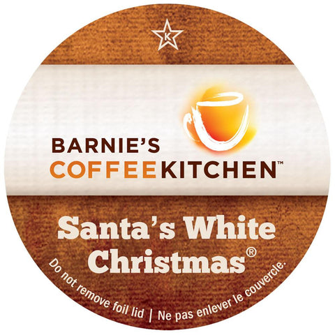 Barnie's Coffee Kitchen Santa's White Christmas
