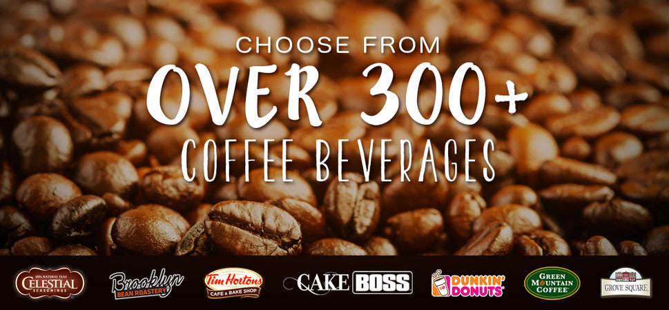 over 300 coffee beverages