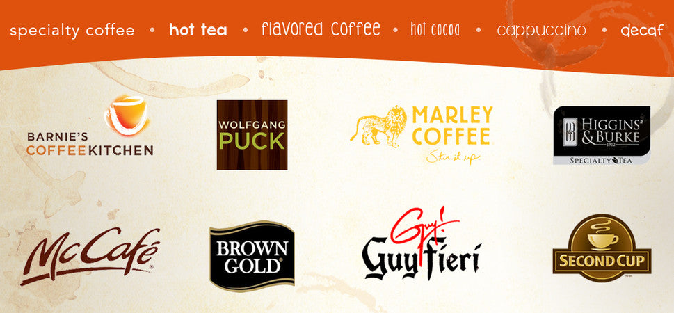 specialty coffee, hot tea, flavored coffee, hot cocoa and more