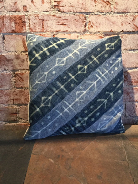 Upcycled Denim Quilted Pillowcase