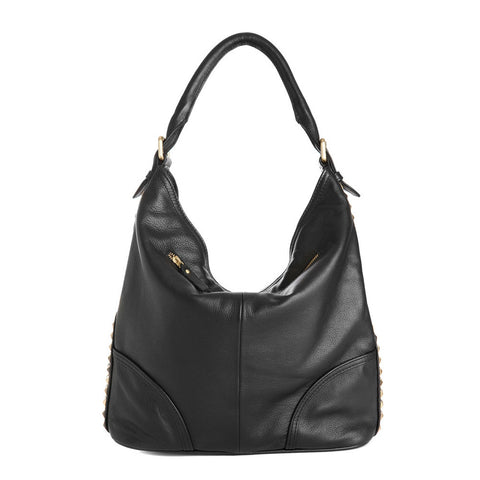 EMPRESS Studded Slouchy Hobo Bag