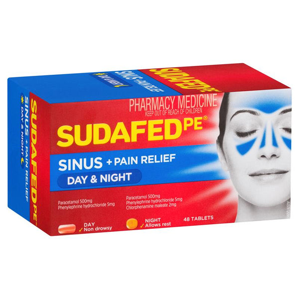 SUDAFED PE Sinus Day/Night Relief 48