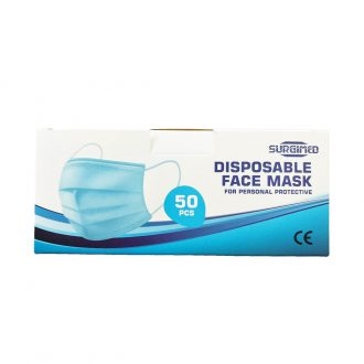 SURGIMED Disposable Face Masks 3Ply 50pk