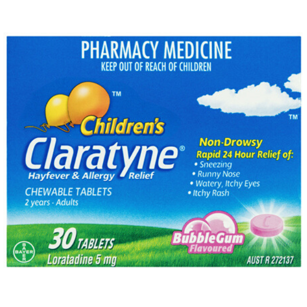 CLARATYNE Children's Chewable BubbleGum 30tabs