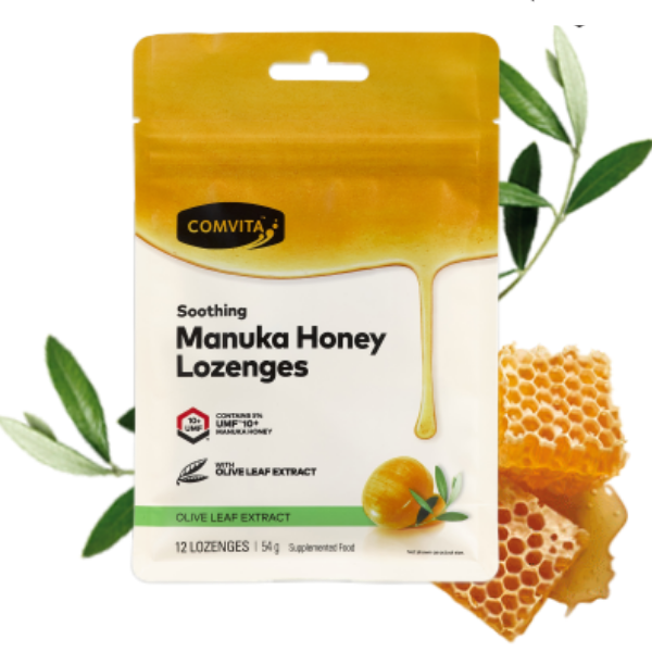 COMVITA Manuka Honey Lozenges OliveLeaf 12