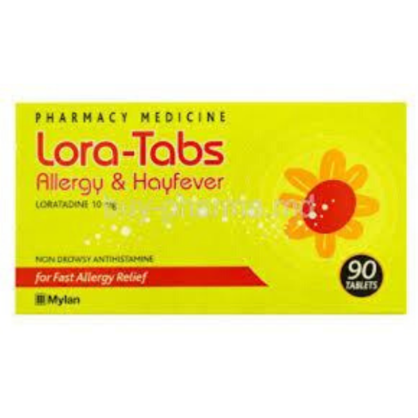 LORA-TABS Allergy & HayFever 10mg 90