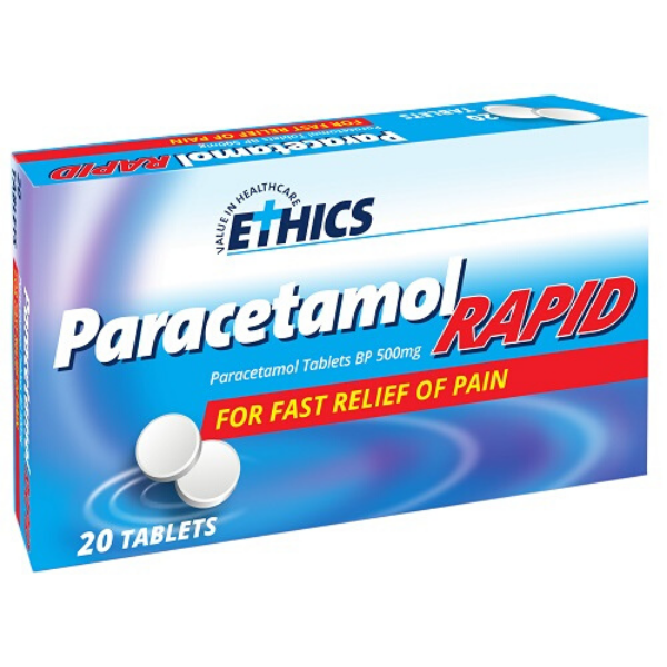 ETHICS Paracetamol Rapid 20 tablets