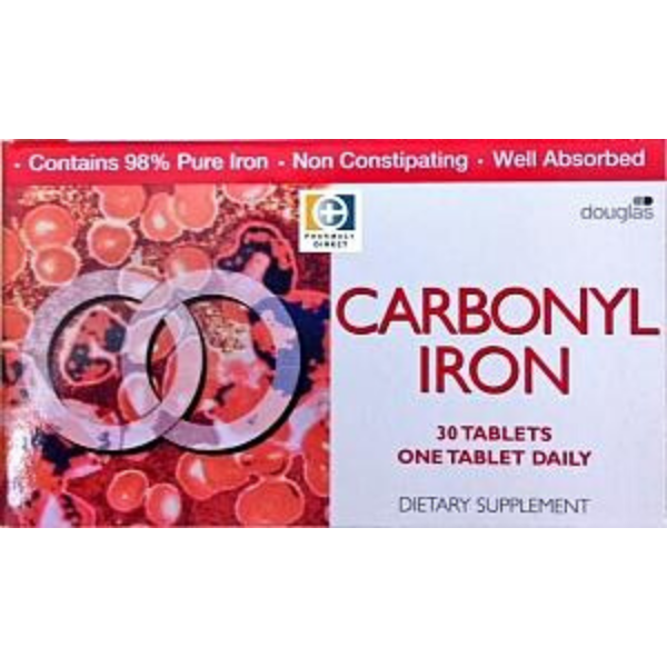 Carbonyl Iron Tablets 18mg 30tabs