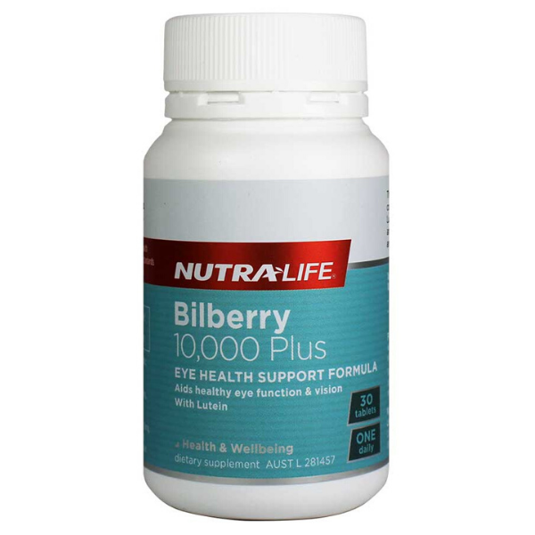 NUTRALIFE Bilberry 10000mg Plus with Lutein 30tabs