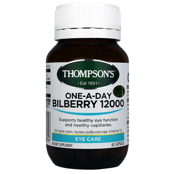 THOMPSONS One-A-Day Bilberry 12000 30caps