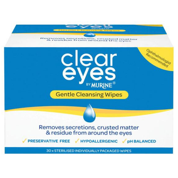 CLEAR EYES Cleansing Wipes 30pk