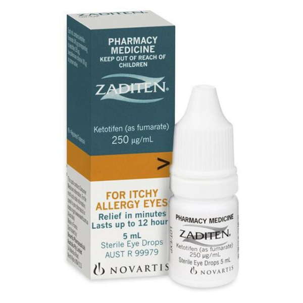 ZADITEN Eye Drops 0.025% 5ml