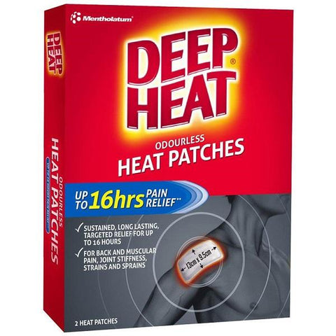 MENTHOLATUM Deep Heat Reg Patch 2pk