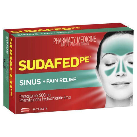 SUDAFED PE Sinus + Pain Relief 48