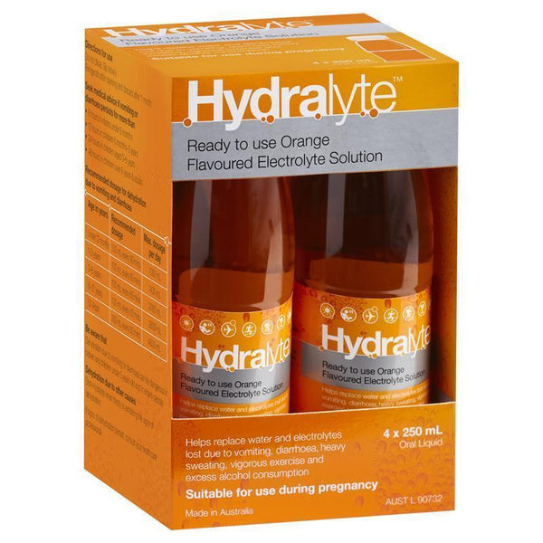 HYDRALYTE Liquid Orange 4x 250ml