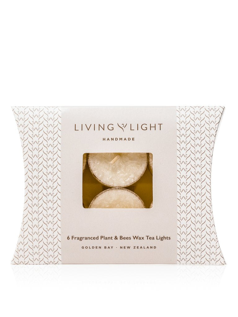 LIVING LIGHT 6 Tealight White Pinot Noir