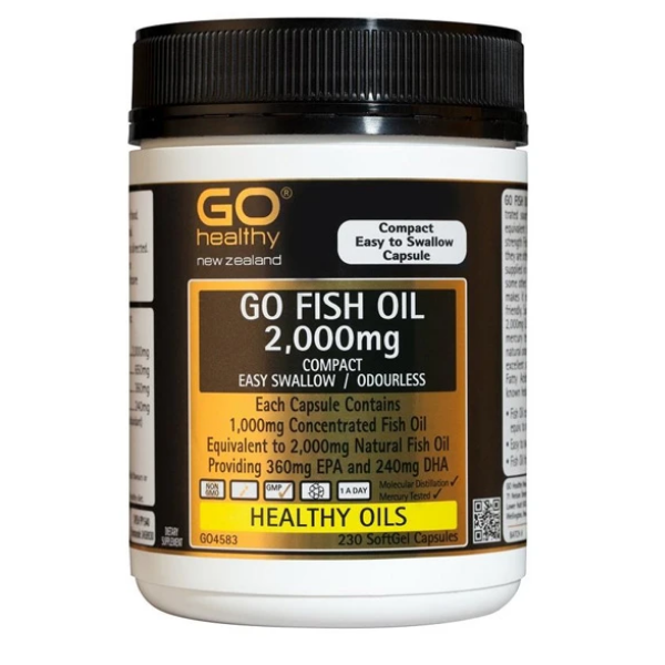 GO Fish Oil 2000mg Odourless 230 cap