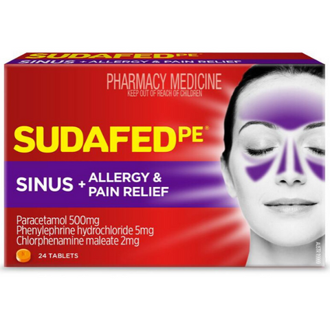 SUDAFED PE Sinus Allergy & Pain 24