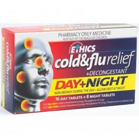 ETHICS Cold&Flu Day&Night + FREE Digital Thermometer
