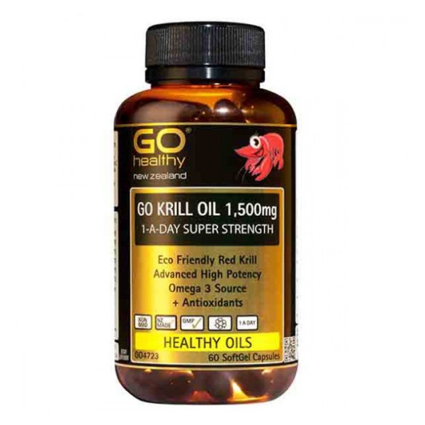 GO Krill Oil 1500mg 1-A-Day 30caps