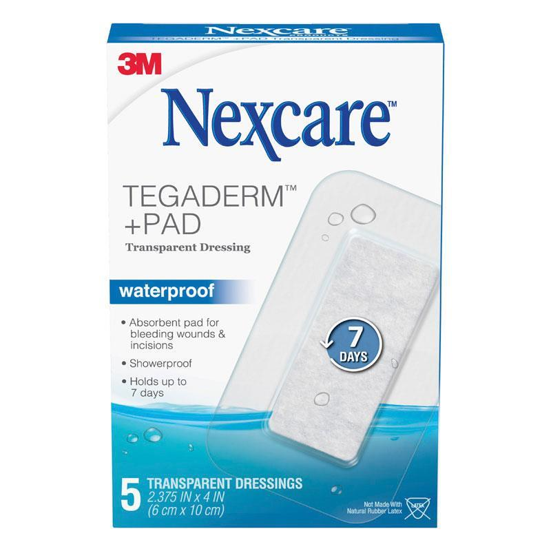 NEXCARE Tegaderm Waterproof Transparent Dressing 5/box
