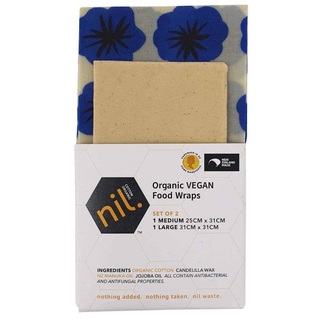 NIL Organic Vegan Food Wrap Blue Flower