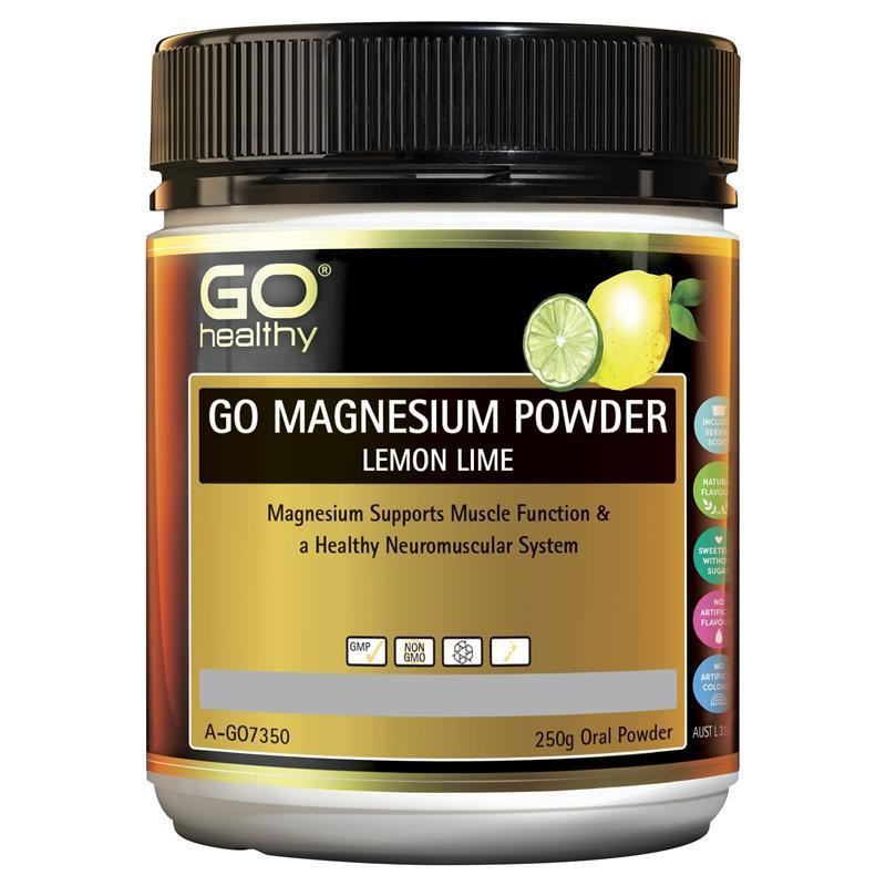 GO HEALTHY Magnesium Powder Lemon Lime 250g