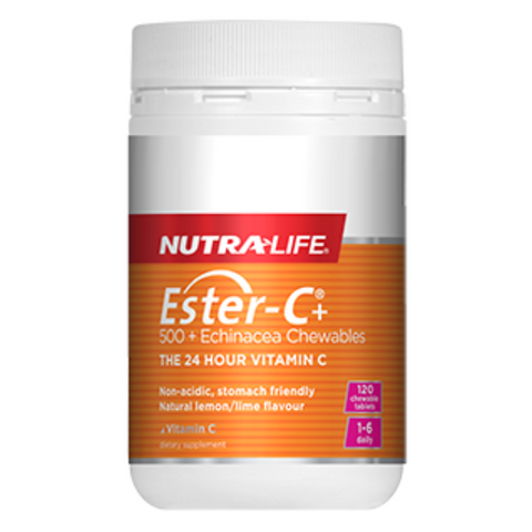 NUTRALIFE Ester C 500mg + Echinacea 60 chew tabs