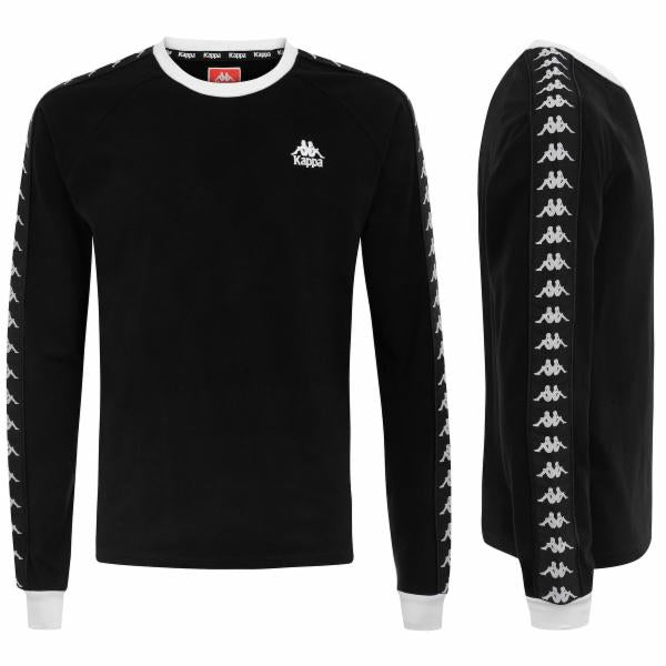 AUTHENTIC AUYEN MENS REG FIT L/S T-SHIRT COLOR BLACK-WHITE
