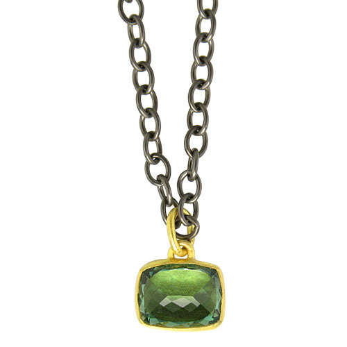 Green amethyst pendant necklace citrine jewelry green amethyst pendant necklace aloadofball Image collections