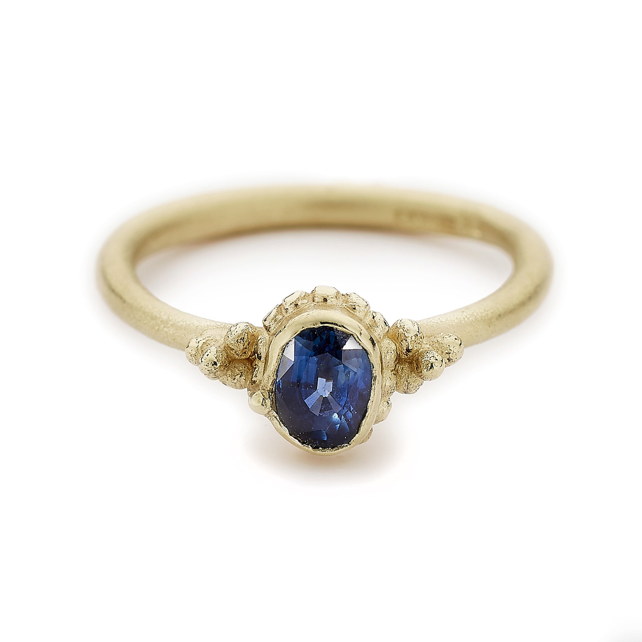 round contemporary uneek sapphire platinum blue infinity center three ring in stone