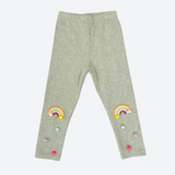Rainbow and Pom Pom Leggings