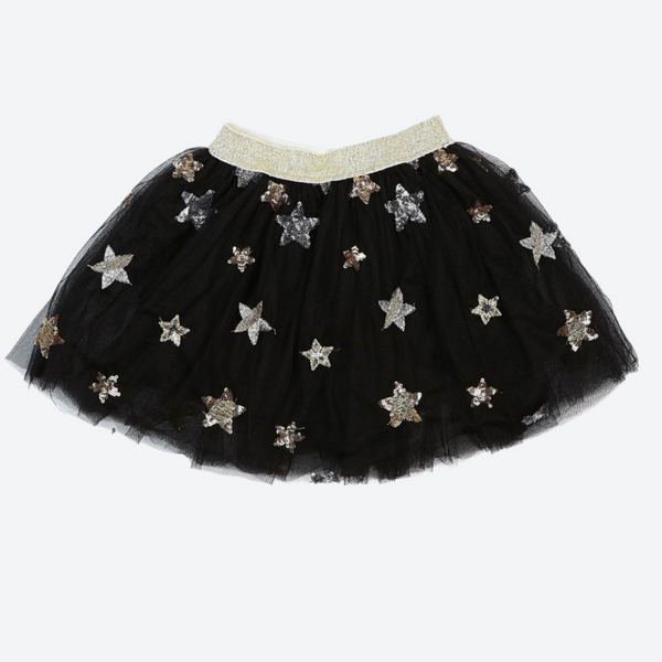 Silver and Gold Star Applique Patch TuTu