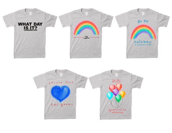 Kids Shirt -Be the Rainbow- 2020 Quarantine