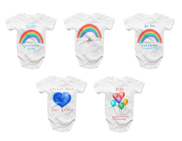 Be the Rainbow -2020 Quarantine Onsie
