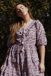 THEA PURPLE FLORAL DRESS