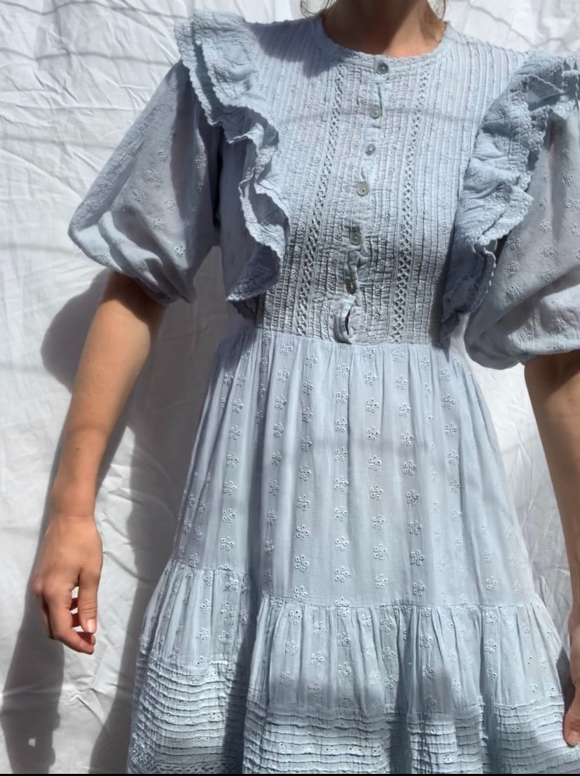CLEMENTINE BUTTON DOWN DRESS BABY BLUE