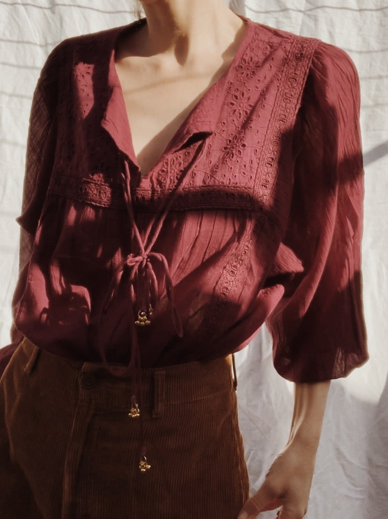 MABEL BLOUSE WINE