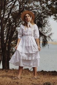 LITTÉRAIRE WHITE COTTON LACE DRESS