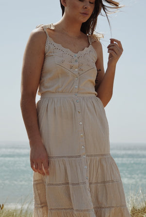 CHLOÈ CAMISOLE ANTIQUE WHITE