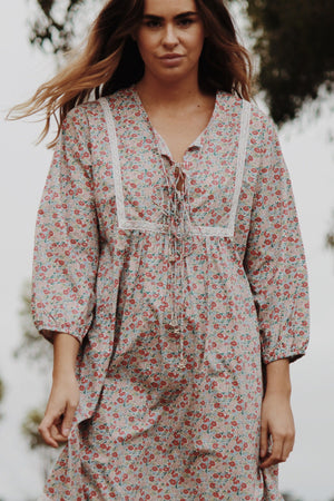 DENVUE PINK DITSY FLORAL DRESS
