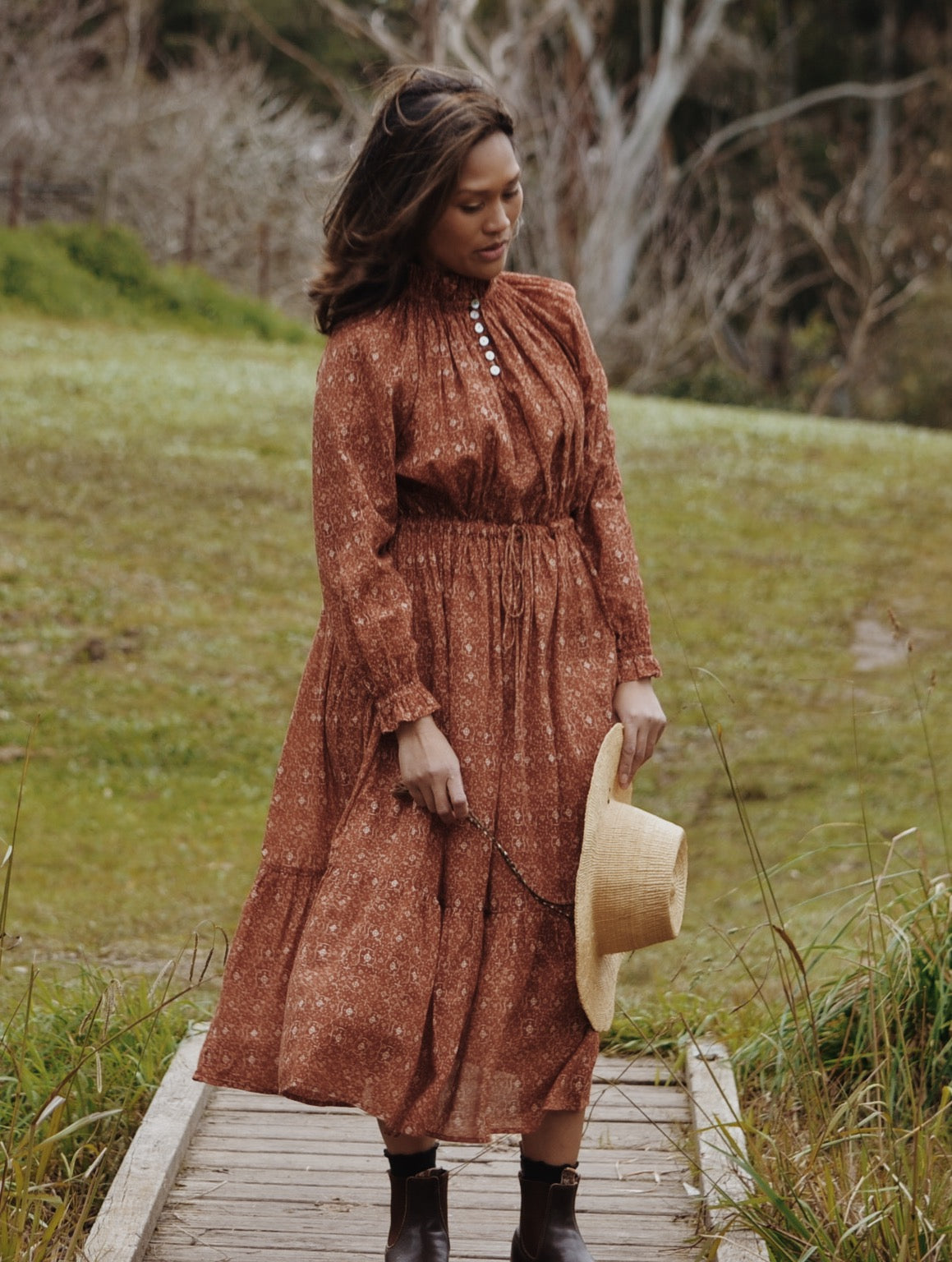 PRAIRIE DRESS ANTIQUE RUST