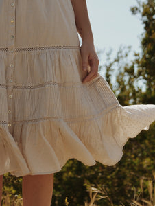 CHLOÈ SKIRT ANTIQUE WHITE