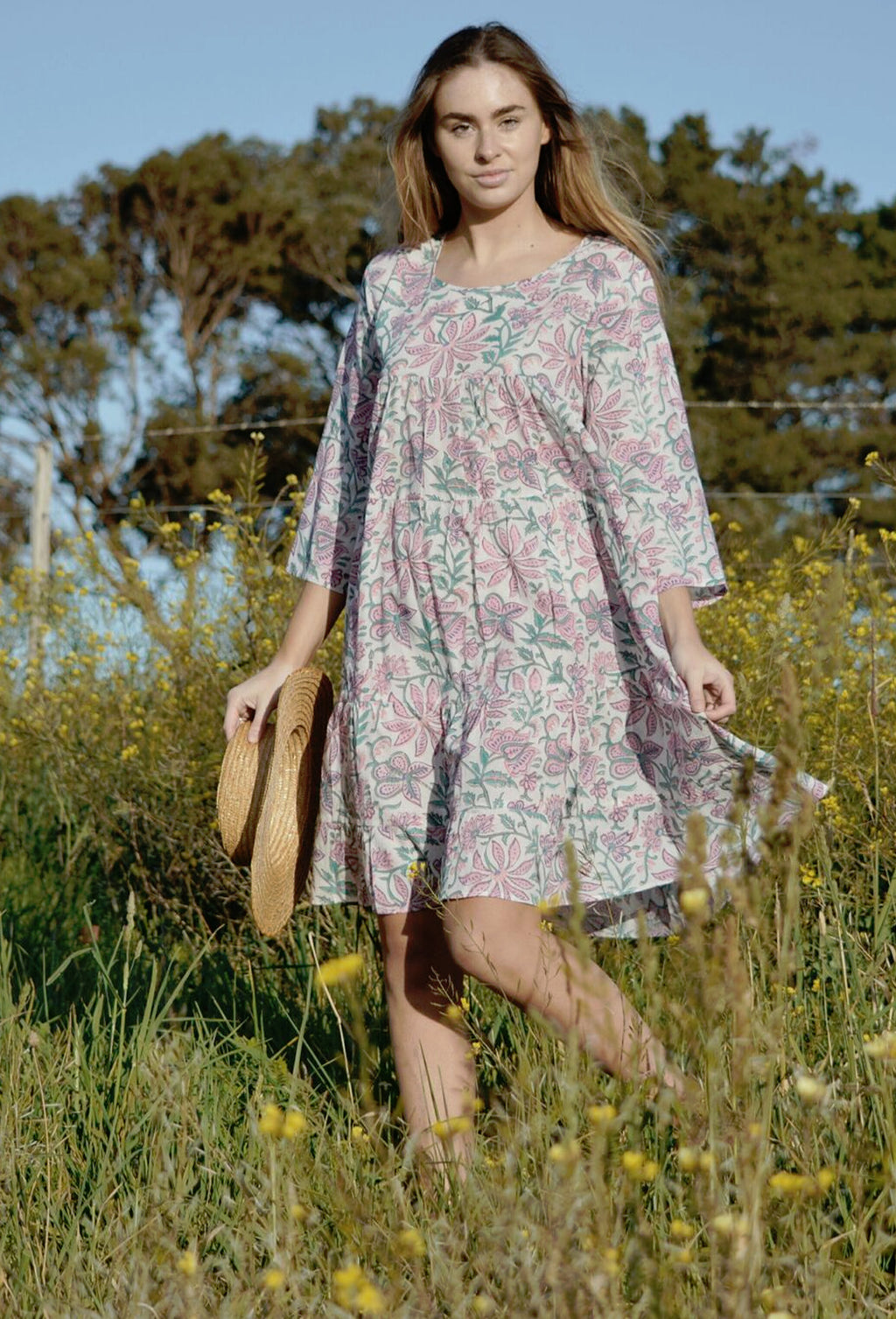 MATHILDE DRESS PINK FLORAL