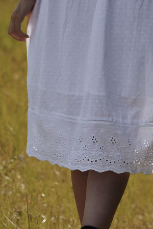 EDITH WHITE COTTON LACE DRESS