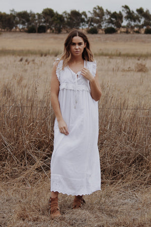 PRIMROSE WHITE COTTON LACE DRESS