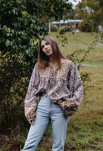 FABLE BLOUSE DUSTY PINK
